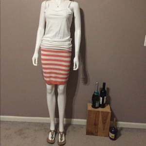 Wow Couture Peach & White Knit Tube Skirt Size S